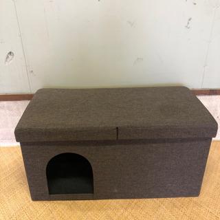 収納付イス ネコ小屋 犬小屋 猫の家 イヌの家 ペットハウス付椅子