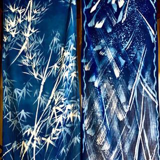 ろうけつ染体験レッスン 日本伝統的な技法でのれんやスカーフ…