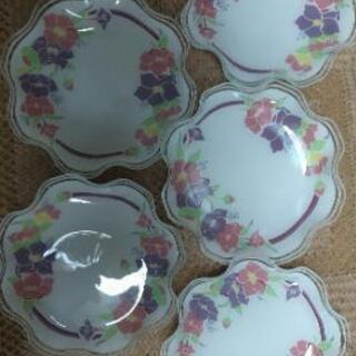 花柄お皿5枚セット