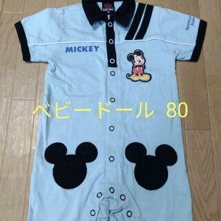 ¥300 ベビードール ディズニー ミッキー つなぎ ロンパース 80