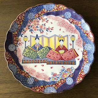 【ネット決済】万古焼 ひな絵皿 ひなまつり
