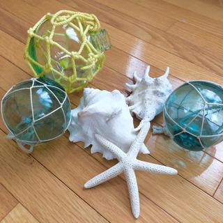 取引中【インテリア】シェル&浮き球6点