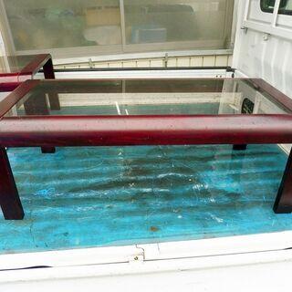 HIKARI 光製作所 木製枠ガラストップセンターテーブル…