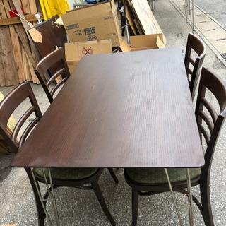 🌺食卓テーブルセット(椅子4脚付)