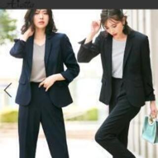 新品未使用女性用スーツ13号ネイビー