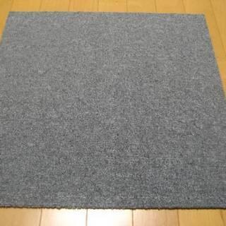 日本製タイルカーペット厚み6.5mm・1枚160円・在庫36枚(...