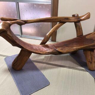 自然木のベンチ 椅子 遊び心の椅子 インテリア