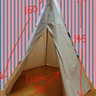 トリックホリック 6角形ティピーキッズテントBASIC帆布…