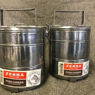 【値下げしました‼】タイ製 3段ステンレス弁当箱 ZEBRA