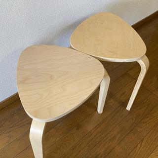 IKEAスツール シルレ 2脚セット
