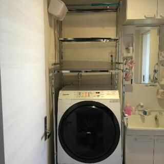ステンレス棚の洗濯機ラック 棚3段 幅60~89cm