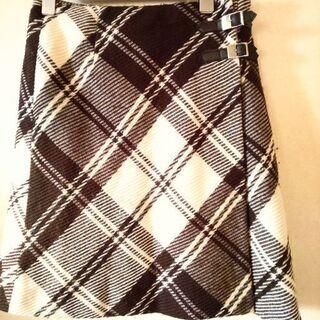 KUMIKYOKU  ダイヤ柄の巻きスカート W 62~66