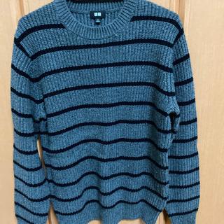 トレーナー セーター UNIQLO グレー×ブラック Mサイズ ...