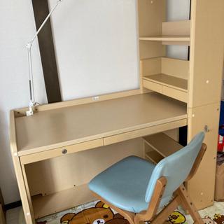 コイズミ学習机LEDライト付き⭐︎椅子とセットで1万円⭐︎