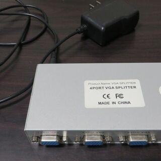 ディスプレイ分配器 4 port vga splitter パソ...
