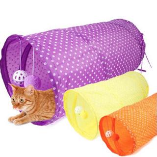 猫が良く遊ぶ♪シャカシャカトンネル 折り畳み式