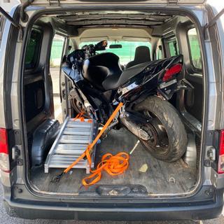 バイクを出品者さま宅から購入者さま宅まで運びます