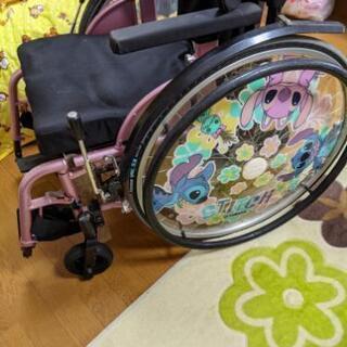 車椅子 ピンク ステッチ
