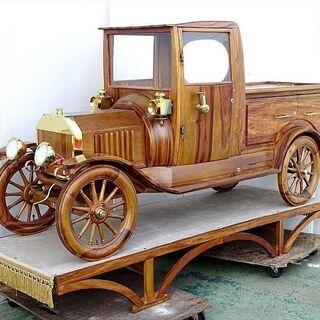 山口)下松市より 木製家具 mirca Ford 車型ワインラッ...