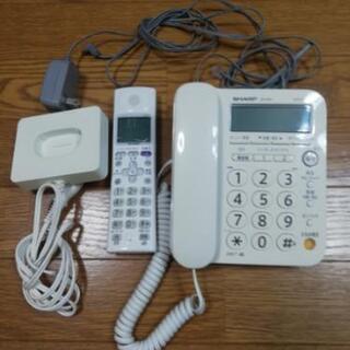 SHARP コードレス電話機一式 JD-G31CL