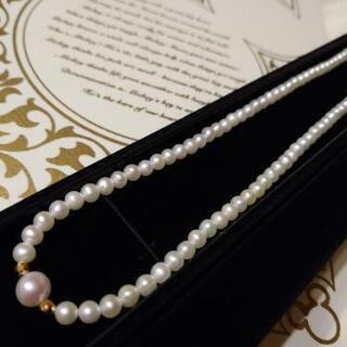 式典や普段使いに☆本真珠&18金の上品ネックレス