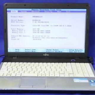 富士通ノートパソコン SSDで快適!Core i3/メモリ4GB...