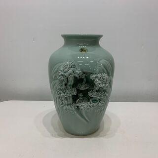 (210213)【30%値下げ】 砥部焼 花瓶(壺) 曙山 田辺...