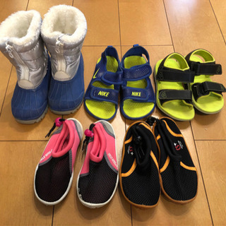 子供 サンダル 水遊び靴 スノーシューズ 16〜18センチ