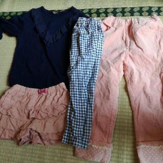 女の子服 サイズ130 4点 ① ピンクのズボンキレイです。