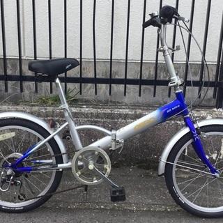<動作・美品>AERO・20インチ・折り畳み自転車・シマノ6段変速