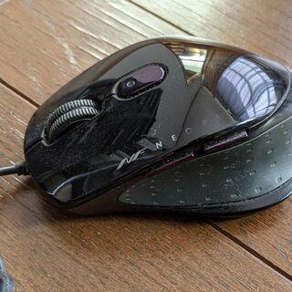 【訳あり】有線マウス バッファロー製 サイドボタン有り