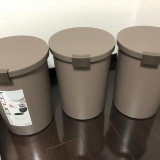 3セット 収納 ごみ箱  12.4L ふた付 パッキン付き 密閉