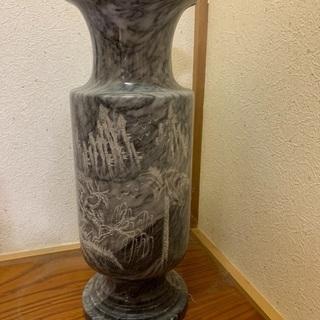 大理石の花瓶 オブジェ 壺 和室  豪華 重厚感