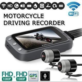 モーターサイクルドライブレコーダー WiFi FHD1080P GPS