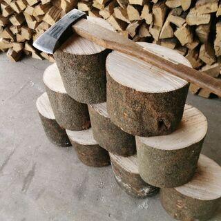 薪🔥works ナチュラルウッド 🌟薪割り台 シラ樫 ミデ…