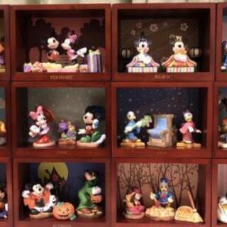 ディズニー 12ヶ月 フィギュア 陶器