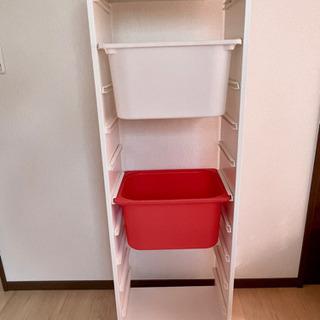【値下げ】IKEA トロファスト 白 おもちゃ収納 箱2個付