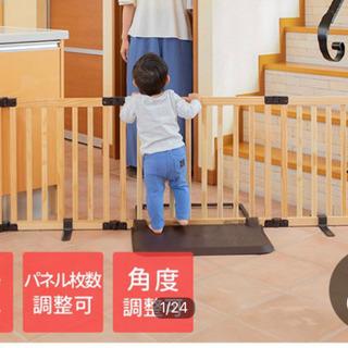 日本育児 ベビーゲート 置くだけ ロングタイプ おくだけとおせんぼ