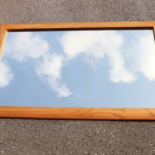 大きな 鏡 ミラー 木枠 在庫数量有り!
