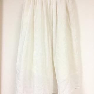 chocol raffine オフホワイト コットンスカート