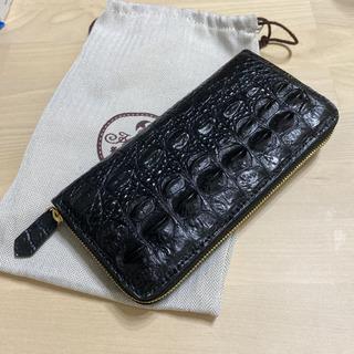 【ネット決済・配送可】新品未使用 クロコダイル革 手製長財布 私人訂制