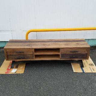 値下げいたしました❗【お洒落】天然木 テレビボード 収納付き T...