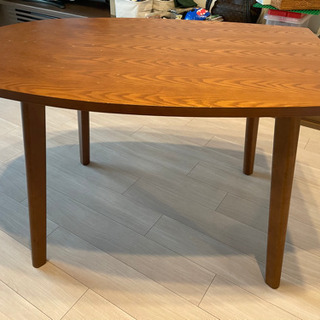 美品・無印良品ダークウォールナットダイニングテーブル