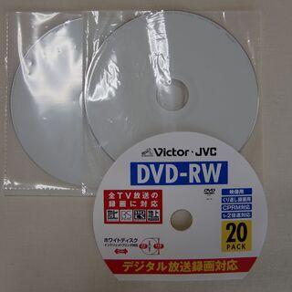 【Victor-JVC】DVD-RW 繰り返し録画用 未使用x4枚