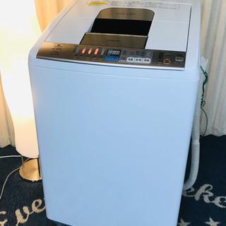 ビートウォッシュ✨洗濯乾燥機✨洗濯機✨HITACHI✨白い…
