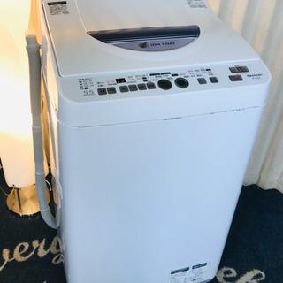洗濯乾燥機✨SHARP✨ホワイト😻5.5キロ✨清掃済✨