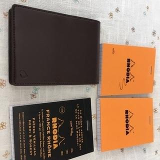 RHODIAメモ帳&専用カバーのセット