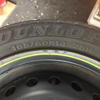 タイヤ ホイールセット 165/60R14 艶消しブラック塗装 ...