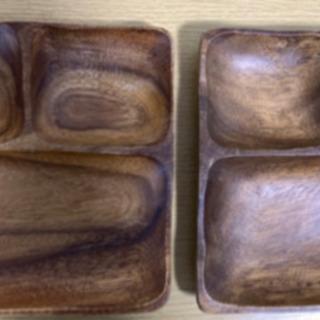 木のプレート皿2枚セット