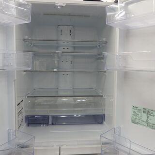 【配送設置無料エリア拡大】☆美品☆ 三菱 ノンフロン冷凍冷蔵庫 MR-WX48Z-W1 2016年製 470L - 世田谷区